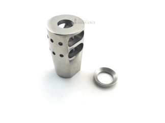 AR-15 2 Port Muzzle Brake - Stainless