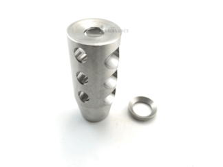AR-15 3 Port Muzzle Brake - Stainless